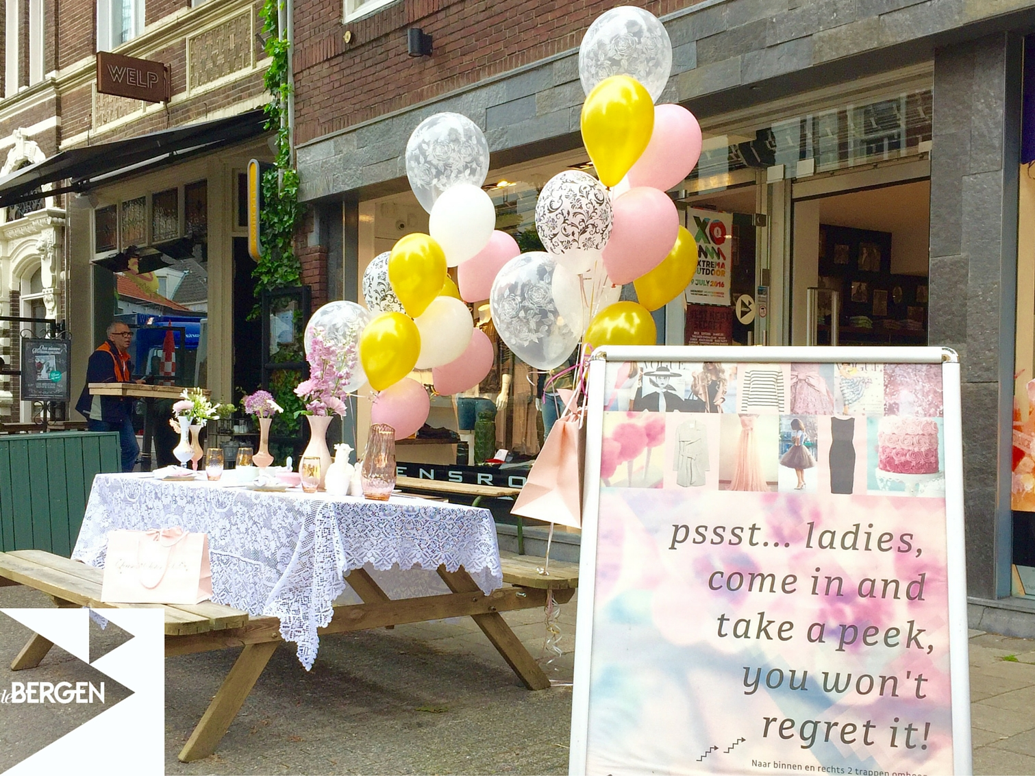 Pop-up store in de Kleine Berg